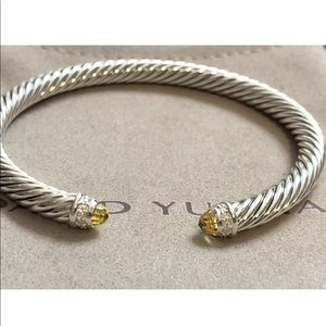 DAVID YURMAN LEMON CITRINE DIAMOND 5mm BRACELET
